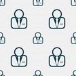 Avatar icon sign Seamless pattern with geometric vector image