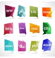 Acronyms Speech Bubbles vector image
