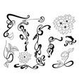 art nouveau style ornamental element set vector image vector image