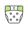 baby diaper icon vector image vector image