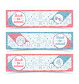 back to school light horizontal banners vector image
