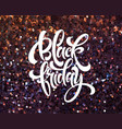 black friday banner template with glitter vector image