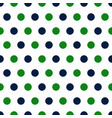 blue and green polka dots seamless pattern vector image