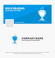 blue business logo template for award competitive vector image vector image