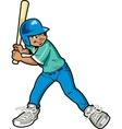 Boy Baseball Batter vector image vector image