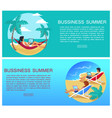 business summer page and text vector image vector image