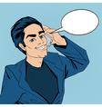 Businessman Talking on the Smart Phone Pop Art vector image