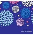 colorful bursts horizontal frame seamless pattern vector image