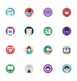 communication icons collection vector image