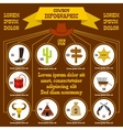 Cowboy infographic elements flat style vector image vector image