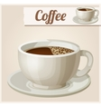 cup coffee detailed icon vector image vector image