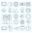 d Icons office vector image vector image