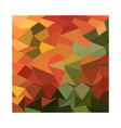 Deep Saffron Orange Abstract Low Polygon vector image vector image