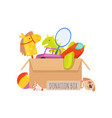 donation box voluntary help children isolated vector image