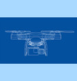 drone concept rendering 3d vector image