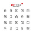 easy icons 44a computer virus vector image