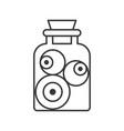 eye ball voodoo or black magic ingredient in jar vector image vector image
