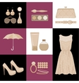 Fashion set in a style flat design vector image