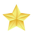 golden star on a white background vector image