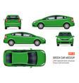 green realistic car vector image
