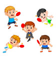 group collection of various positions vector image vector image