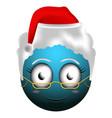 happy christmas emoji vector image