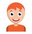 happy smiling boy icon cartoon style vector image