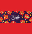 holiday sale banner christmas purple horizontal vector image