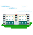 Hospital building in flat style Outdoor facade vector image vector image