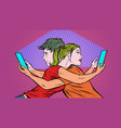 loneliness in social networks concept a couple vector image