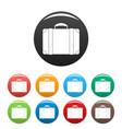 luggage bag icons set color vector image vector image