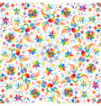 mexican rainbow seamless pattern vector image