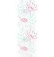 modern line art florals vertical border vector image vector image