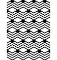 Monochrome geometric art seamless pattern mosaic vector image