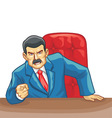 office boss pointing the finger vector image vector image