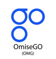 omisego cryptocurrency symbol vector image vector image