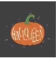 orange pumpkin for Halloween vector image vector image