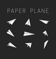 paper planes icons vector image