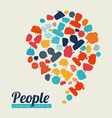 people speech vector image