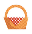picnic basket empty vector image vector image
