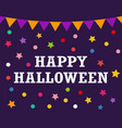 postcard with flags happy halloween vector image vector image