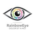 rainbow eye circle eyeball symbol vector image vector image