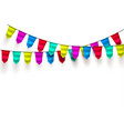 Realistic bunting 3d flag decoration