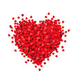 red heart isolated white background vector image