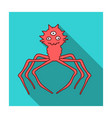 red virus icon in flat style isolated on white vector image vector image