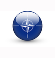 Round icon with flag of NATO vector image vector image