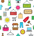 Sales colorful pattern icons vector image vector image