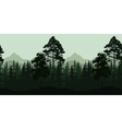 Seamless Landscape Trees and Mountains vector image vector image