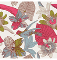Seamless tropical floral pattern vector image vector image
