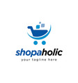 shopping cart logo design inspiration vector image